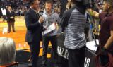 Kahne takes in Hornets-Suns game courtside in Phoenix
