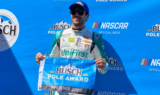 Elliott celebrates first pole of season