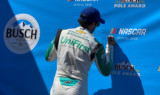 Elliott celebrates first pole of season