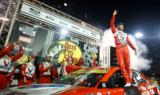 Look! Larson celebrates big win at Bristol