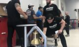 Elliott brings Victory Bell to celebrate Talladega win with teammates