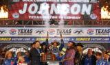 Check out Johnson's Texas Victory Lane celebration