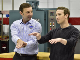 Watch Zuckerberg's tour of Hendrick Motorsports&#x3B; hot laps with Earnhardt