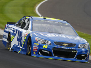 Johnson leads teammates in Stage 2 at Indy