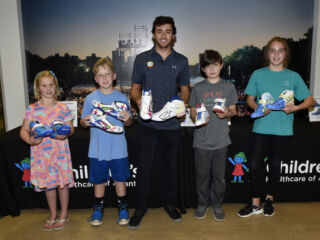 Elliott visits Children's Healthcare of Atlanta, premieres children-designed racing shoes