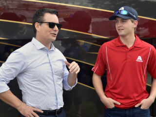 Gordon chats with Byron for Axalta's 'Around the Track'