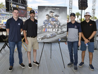 Teammates thrilled to grace cover of 'NASCAR Heat 3'