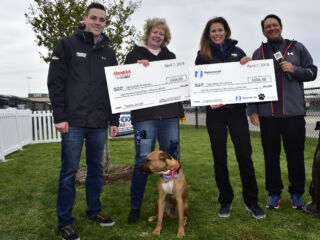 Bowman presents donation on behalf of Hendrick Motorsports, Nationwide