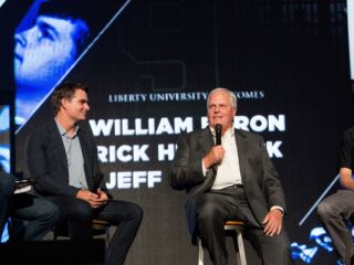 Hendrick, Gordon join Byron at Liberty University's fall semester kickoff