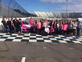Byron supports breast cancer awareness effort at Martinsville