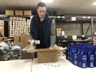 Bowman helps lend a hand to local schools in Kansas