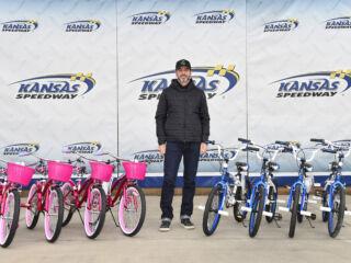 Kansas Speedway donating 48 bikes, helmets in Johnson's name