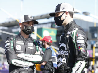 Daniels already impressed with Larson: 'He drives like a lion'