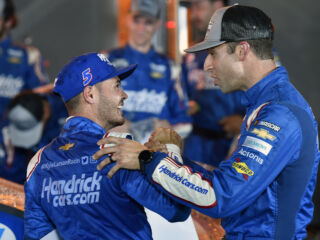 Larson, Daniels feeling the excitement for Round of 8 tracks