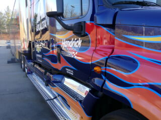 Fiery new No. 24 hauler gets prepped for Daytona