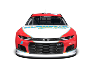 Check out Larson's first-car throwback scheme for Darlington