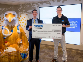 Bowman presents donation to Nationwide Children's Hospital