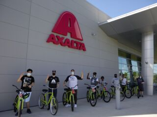 Byron teams up with Axalta to give BBBSA kids new bikes