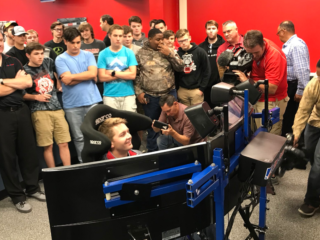 Byron shares iRacing expertise with students