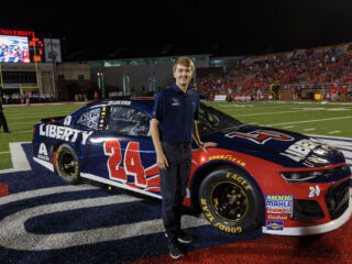 Byron unveils 2018 Liberty University scheme at football game