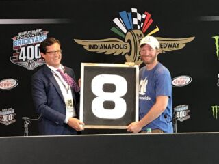 Indianapolis Motor Speedway presents Earnhardt with piece of history