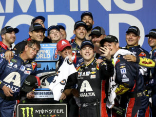 Reactions pour in after Bowman's first career win