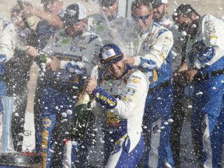 No. 9 team celebrates Watkins Glen win in style