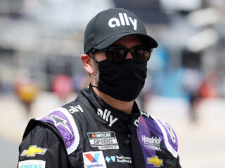 Johnson continues tribute to frontline workers for Wednesday's Charlotte race