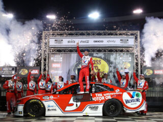 Larson happy with riveting Bristol win, ready for Round of 12