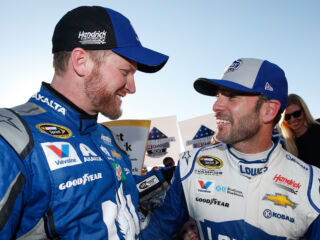Johnson on Earnhardt: 'I can proudly call him a friend'