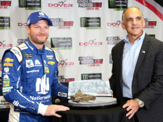 Dover presents Earnhardt with trophy commemorating 'emotional' September 2001 victory