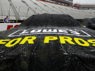 Remainder of Bristol race postponed&#x3B; Johnson in top 10