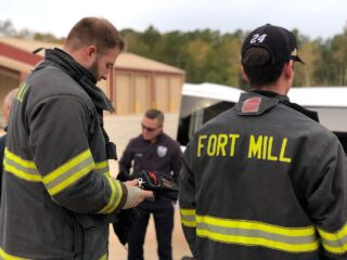 No. 24 teammates train with Fort Mill Fire Department