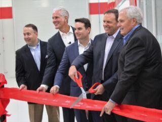 Hendrick, Gordon help open 'special' Axalta Customer Experience Center on campus