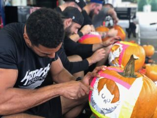 Drivers and teammates get into Halloween spirit