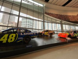 'Dale Jr.: Glory Road Champions' at NASCAR Hall features three Hendrick Motorsports rides
