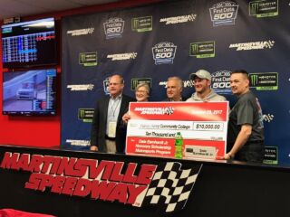 Martinsville honors Earnhardt with scholarship donation