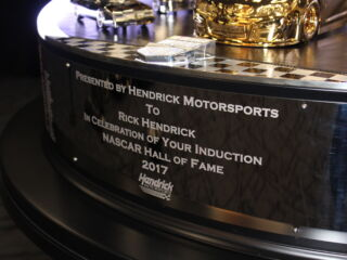 Hendrick presents organization with commemorative Hall of Fame rings