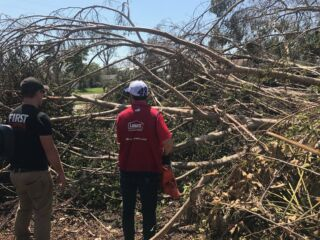 Johnson helps 97-year-old Hurricane Irma victim