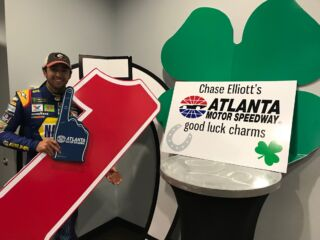 Elliott's home track providing some extra good luck
