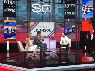 Johnson makes the rounds at ESPN, including 'SportsCenter'