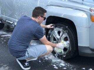 Bowman, No. 88 team wash cars for a cause