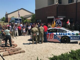 Johnson, Earnhardt debut patriotic schemes at Charlotte