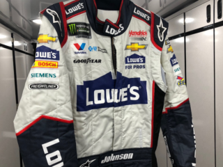 Johnson's throwback firesuit and helmet for Homestead