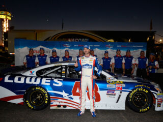 Johnson and team celebrate third-career pole at Phoenix