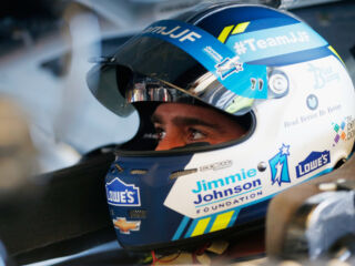 Jimmie Johnson Foundation-themed visors of NASCAR Cup Series drivers up for auction