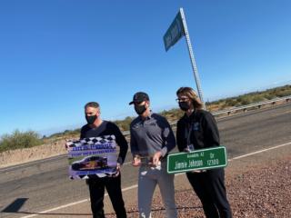 Phoenix Raceway reveals 'Jimmie Johnson Dr.'