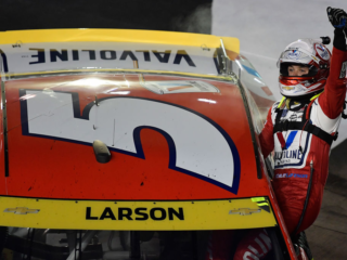 Race Rundown: Larson wins Bristol as all four playoff teams advance