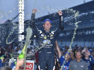 Kahne shares emotions of his Brickyard win: 'It feels really, really good'