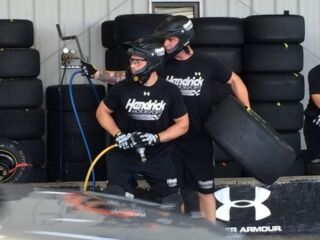 No. 48 team tire changer Andrews cherishes family in return to home track